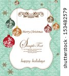 christmas invitation card with... | Shutterstock .eps vector #153482579