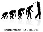 Evolution of a Golf Player  - stock vector