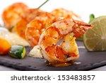 tiger prawns dish   Shutterstock . vector #153483857