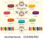 tasty colorful french macaron | Shutterstock .eps vector #153486581