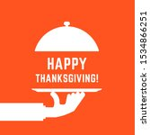 happy thanksgiving text with...   Shutterstock . vector #1534866251