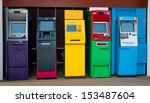 Colorful Of Automated Teller...