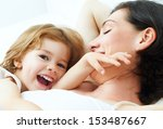 daughter and mother are happy... | Shutterstock . vector #153487667
