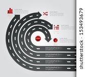 street road   sign infographics ... | Shutterstock .eps vector #153493679