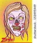 zombie | Shutterstock .eps vector #153495449