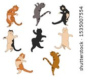 Set Of Dancing Cats Isolated On ...