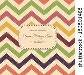 invitation with seamless vector ... | Shutterstock .eps vector #153501485