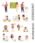 robots for kids colored set... | Shutterstock .eps vector #1535032907