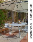 outdoor dining table on the...   Shutterstock . vector #1535039081