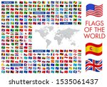 all national waving flags from... | Shutterstock .eps vector #1535061437