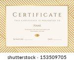certificate  diploma of...   Shutterstock .eps vector #153509705