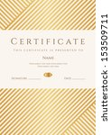certificate  diploma of... | Shutterstock .eps vector #153509711