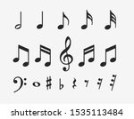 Music Notes Icons Set. Musical...