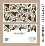 vintage business card template...