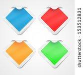 stickers set | Shutterstock .eps vector #153512831