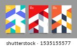 covers with minimal design.... | Shutterstock .eps vector #1535155577