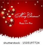 merry christmas vector frame...   Shutterstock .eps vector #1535197724