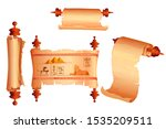 ancient egypt papyrus scroll...   Shutterstock .eps vector #1535209511
