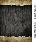 Paper Sheet On Black Wood