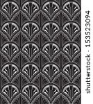 art deco repeat wallpaper | Shutterstock .eps vector #153523094
