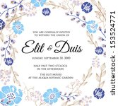 wedding invitation  thank you... | Shutterstock .eps vector #153524771