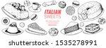 italian dessert vector...   Shutterstock .eps vector #1535278991