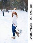 young brunette caucasian girl...   Shutterstock . vector #1535280101