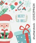 santa with gift boxes candy... | Shutterstock .eps vector #1535299634