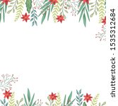 beauty christmas flowers and... | Shutterstock .eps vector #1535312684