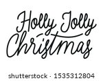 merry christmas calligraphy... | Shutterstock .eps vector #1535312804