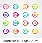 bullet marker icon with number... | Shutterstock .eps vector #1535314394
