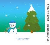 winter snow  snowman  and...   Shutterstock . vector #1535327831