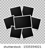 collage of seven empty photo... | Shutterstock .eps vector #1535354021