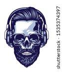 Skull Of Bearded Hipster...