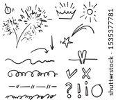 doodle set elements  black on... | Shutterstock .eps vector #1535377781