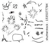 doodle set elements  black on... | Shutterstock .eps vector #1535377784