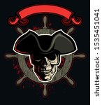 vector human skull with the...   Shutterstock .eps vector #1535451041