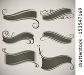 abstract vintage banner shapes... | Shutterstock .eps vector #153547169