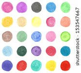 set of colorful watercolor hand ... | Shutterstock .eps vector #153547667