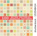 100 retro different vector...