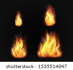 realistic fire flames. set of... | Shutterstock .eps vector #1535514047