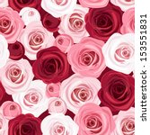 Seamless Pattern With Red And...
