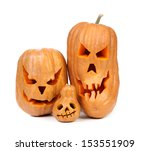 family of pumpkins halloween... | Shutterstock . vector #153551909