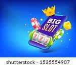 big slot in smartphone with... | Shutterstock .eps vector #1535554907