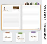 2014 calendar on notebook paper ... | Shutterstock .eps vector #153555527
