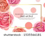 floral invitation with gentle... | Shutterstock .eps vector #1535566181