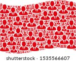 waving red flag collage. vector ...   Shutterstock .eps vector #1535566607