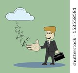 business man deals with the... | Shutterstock .eps vector #153558581