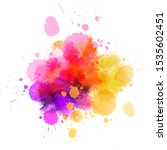 multicolored splash watercolor...   Shutterstock .eps vector #1535602451