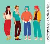 diverse women faces background  ...   Shutterstock .eps vector #1535610434